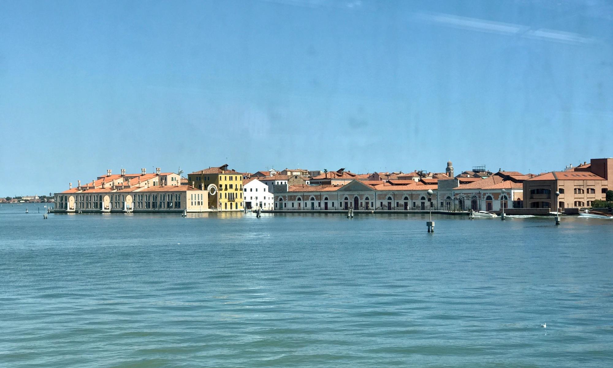 Venice from Train
